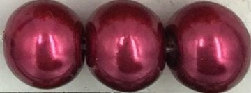 39 Burgundy - glass pearls - beads - all sizes